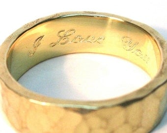 Add Personalized Engraving Inside One Ring
