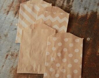 Kraft Favor Bags -- Paper Bags -- 12 Count -- 2.75 X 4