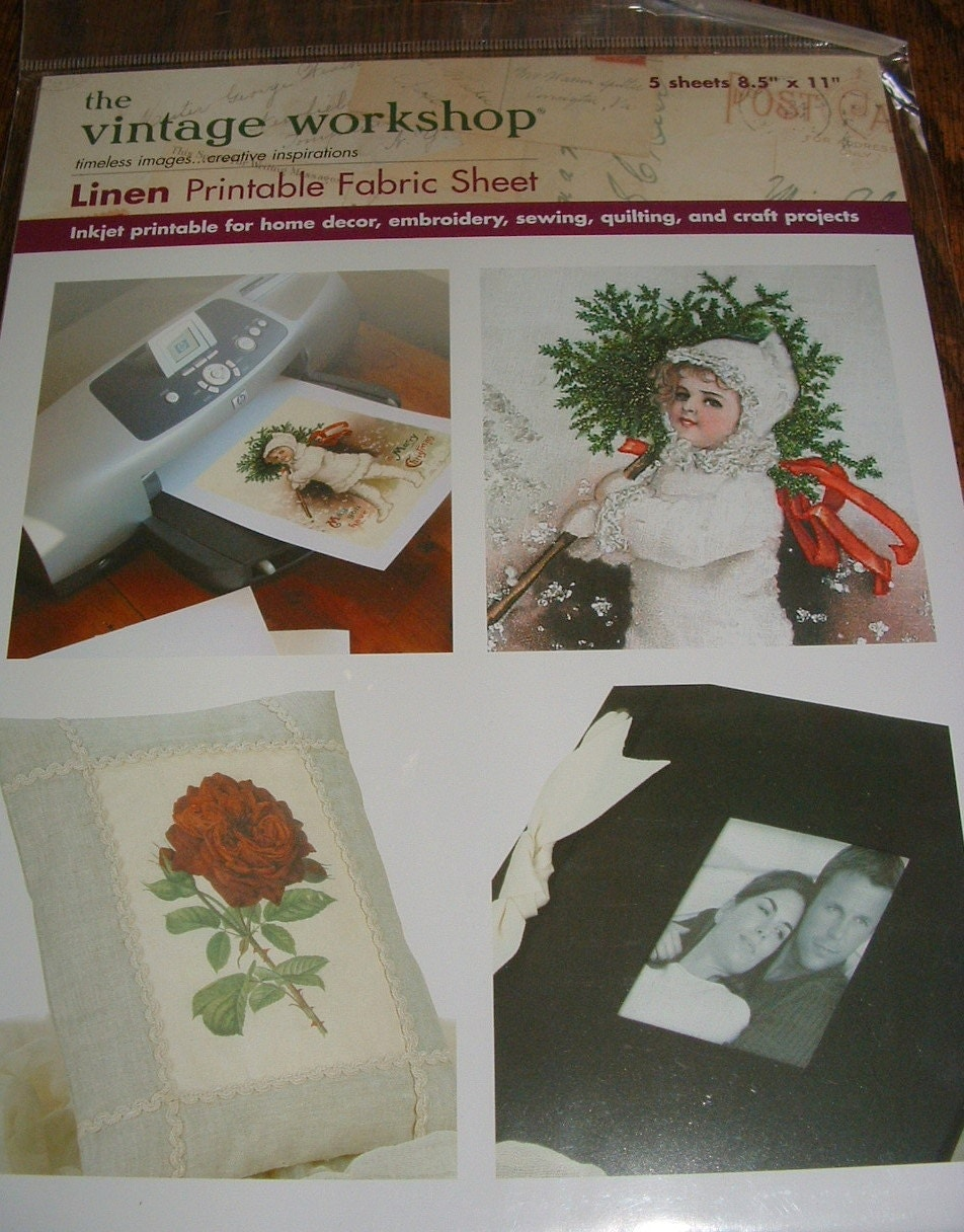 Exhilarating image throughout printable fabric sheets for inkjet printers