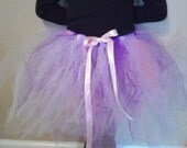 Purple and Pink Tutu with Pink Bow
