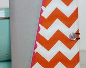 List Taker / Chevron & RicRac Covered Notebook (Ready to Ship)