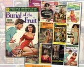 Vintage Pulp Fiction Paperback Novel Covers digital collage sheet No 1