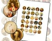 Antique Catholic Holy Cards I  Digital Collage 1 inch round size 25.4mm