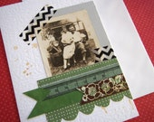 The Lovers - Vintage style Greeting Card using original found photo - Wedding Birthday Friendship Card Mod Girl