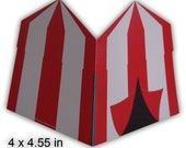 Carnival Circus Tent Blank Cards or Party Invitations Printable Color Digital PDF (custom colors available)
