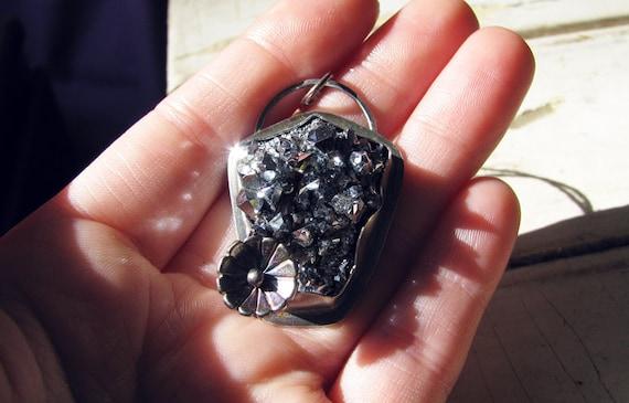 Reflective Age- Chromite Crystal Pendant