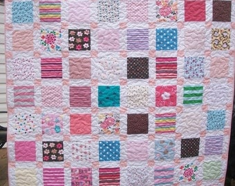 "BABY CLOTHES Quilt Heirloom Memory Custom Order Queen Size 92"" x 92"" - Using Your Baby Clothes"
