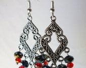 Handmade Crystals Galore Beaded Dangling Earrings
