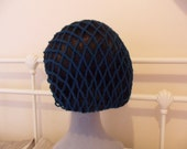Kim - Teal 1940s retro snood hairnet
