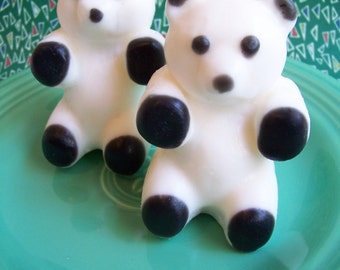 Panda Bear Soap - Kids Soap, Children Soap, Animal Soap, Party Favors, Bath Soap, Lime Scented, Teddy Bear, Jungle, Novelty Soap, Bear Soap