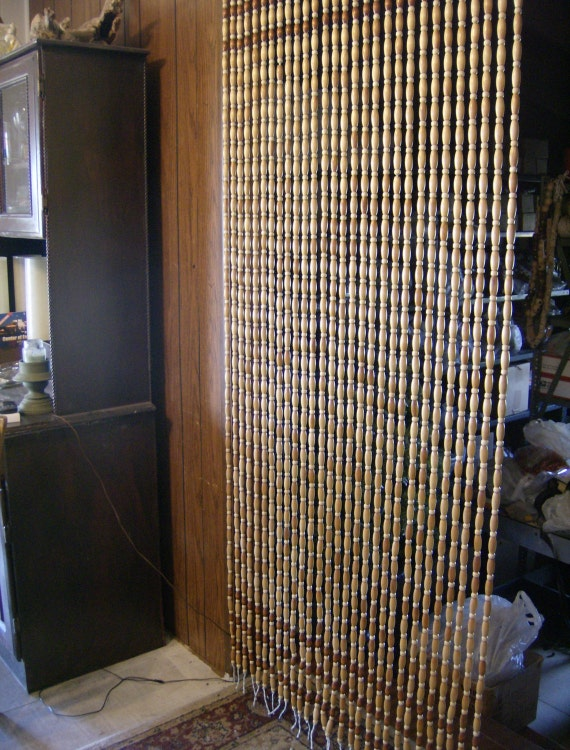 Porch Screen Room Divider Wood Bead Curtain