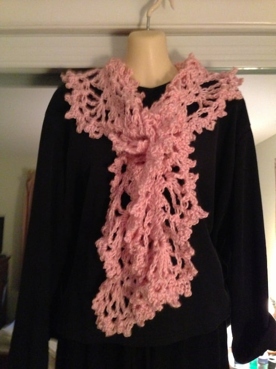 Scarves, Neckwear, Neck Scarves, Womens Fashions, Girls Fashions, Pink, Crochet, Accessories