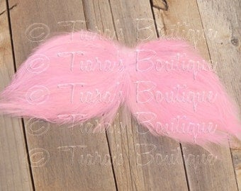 NEW Angel Wings for Baby - Photo Prop Infant Feather Angel Wings in Light Pink - Fully Poseable for Newborn Photography