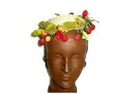 Vintage Fruits Leaves Hat...