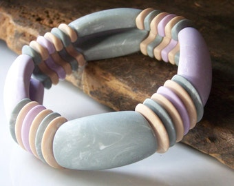 REDUCED Vintage 80s Bracelet, Chunky Bracelet, Purple Bracelet, Avon Bracelet, Vintage Avon, Bracelet, Etsy Jewelry, Etsy Vintage, Etsy