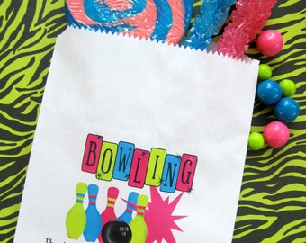 Bowling Favor bags, Bowling Candy Bags,Bowling favor bags, Bowling favors, Candy Buffet bags, Bowling Birthday party, Sweets, Treats