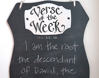 Shield of Faith Verse of the Week Chalkboard - READY TO  SHIP - In Time For Christmas-  Order By December 19th