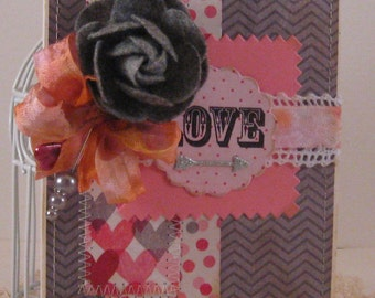 LOVE - Valentines Day Card and Envelope