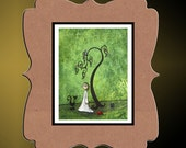 Whimsical Creeper Art Print --- Art  Print Giclee - Golden Apples