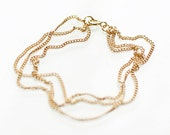 soleil - gold layered chain bracelet by elephantine