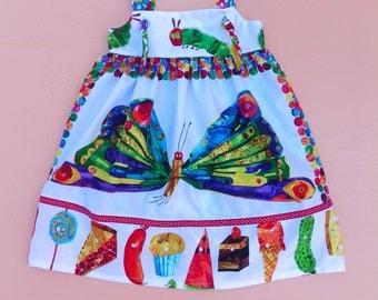 Very Hungry Caterpillar Butterfly Knot  Dress