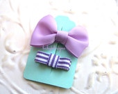 Two Baby Hair Clips / Newborn Hair Clips / Itty Bitty Baby Bow Clips / Toddler Girls Simple YOU PICK Newborn Bow Clips