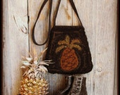 E Pattern Primitive Hooked Pineapple Bag PDF Instant Download