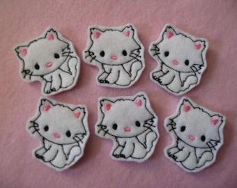 Kitty Cat Embroidered Felt Embellishment - 031