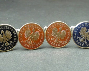 Poland coin cufflinks 15mm