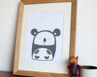 Koala Screen Print Poster