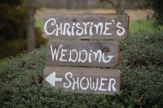Wedding Shower Sign Romantic Outdoor Weddings By