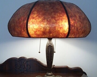 Butternut Mica Shade in your choice of mica for your Antique Vintage Art Nouveau Victorian Table Lamp
