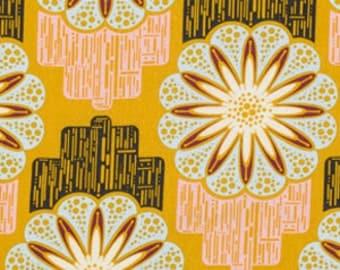 Field Study Linens - Anna Maria Horner Fabric - Flower Circuit in Marigold - Half Yard