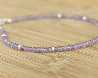 Lilac Amethyst Gemstone Anklet