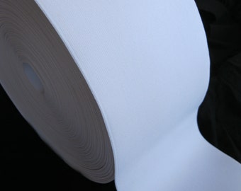 Ultra wide white elastic, 6 inches wide