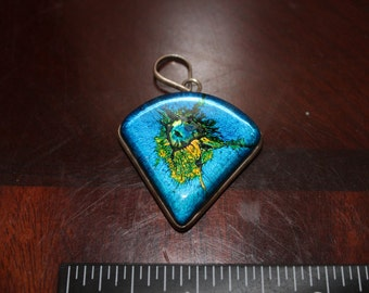 Sterling Silver Dichroic Glass One of a Kind Pendant