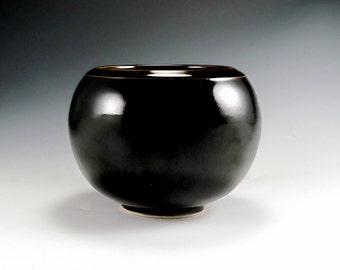 Porcelain Pottery Vase Mirror Black Glaze