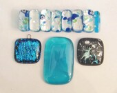 DESTASH SALE.  Silver/Aqua Glass Jewelry Lot