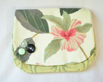 Green Boho Bag Plain Flower Clutch