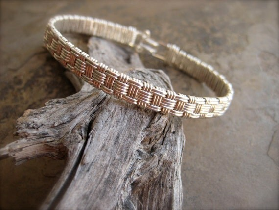 How To Basket Weave Bracelet : Basket weave bracelet in sterling and argentium by bellatesoro