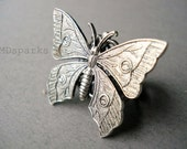 Silver Butterfly Ring... Victorian Jewelry