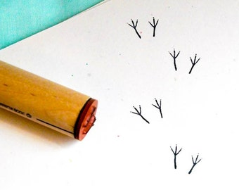 Bird Tracks  Rubber Stamp