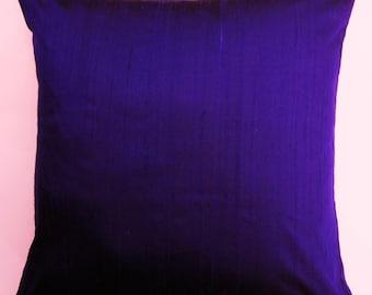 Purple Pillow Cover -- Silk Ultraviolet Purple Cushion Cover - 18 x 18