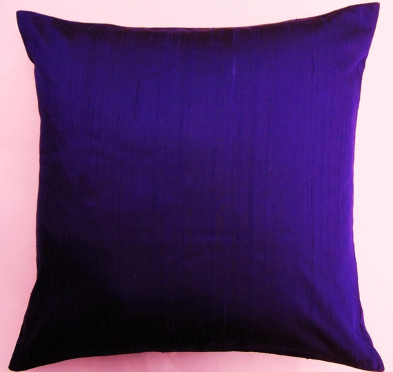 Purple Silk Throw Pillows : Purple Throw Pillow Cover Silk Ultraviolet Cushion Cover