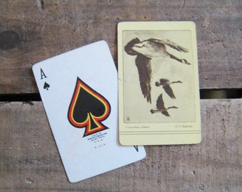 Vintage Canadian Geese Playing Card Deck - Full Deck