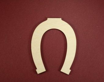 Lucky Horseshoe Shape Unfinished Wood Laser Cut Shapes Crafts Variety of Sizes
