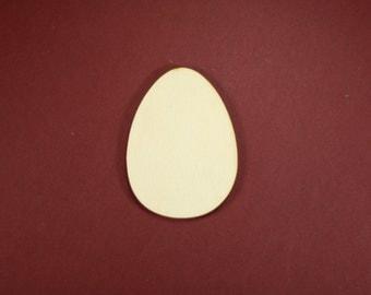 Egg Shape Unfinished Wood Laser Cut Shapes Crafts Variety of Sizes