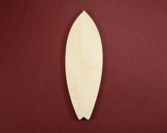 Surfboard Shape Unfinished Wood Laser Cut Shapes Crafts Variety of Sizes