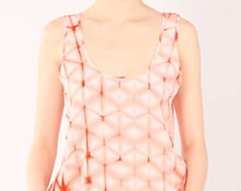 On Sale - Current Tank in hand dyed silk