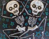 Rhythm Was a Dancer (3) Original Acrylic Painting on Masonite